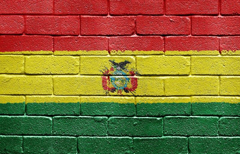 Indicador de Bolivia en la pared de ladrillo imagenes de archivo