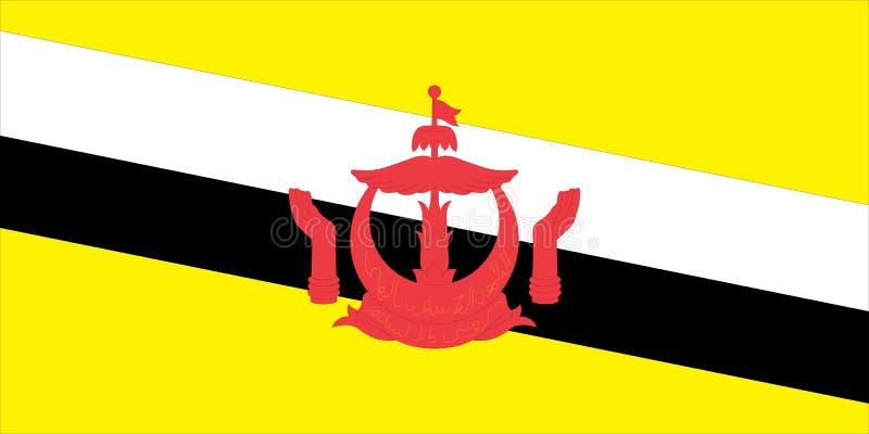 Indicador de Brunei stock de ilustración