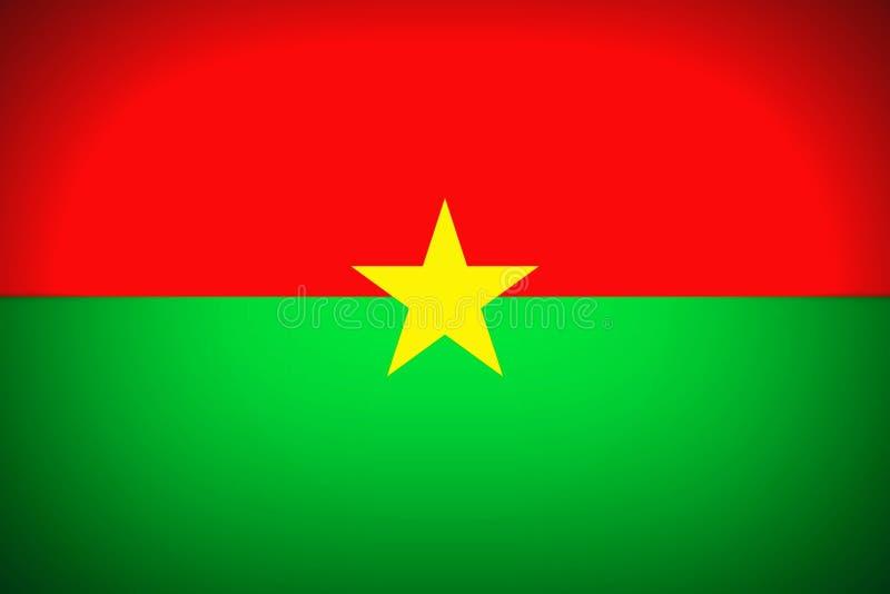 Indicador de Burkina Faso ilustración del vector