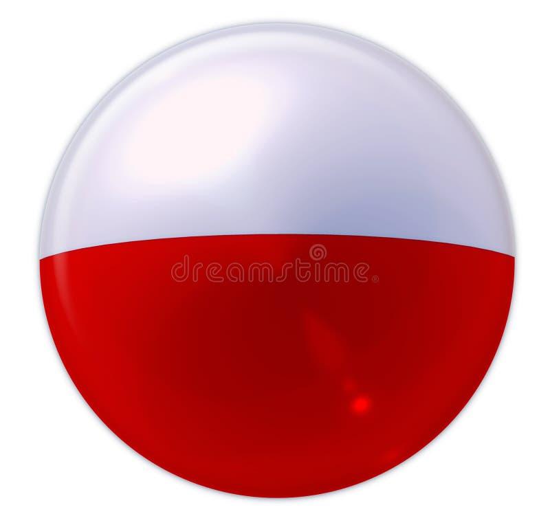 Indicador de Buttonised de Polonia fotos de archivo