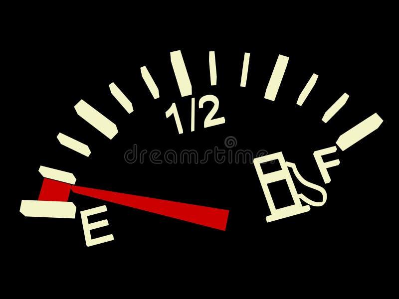 Indicador de combustível ilustração royalty free