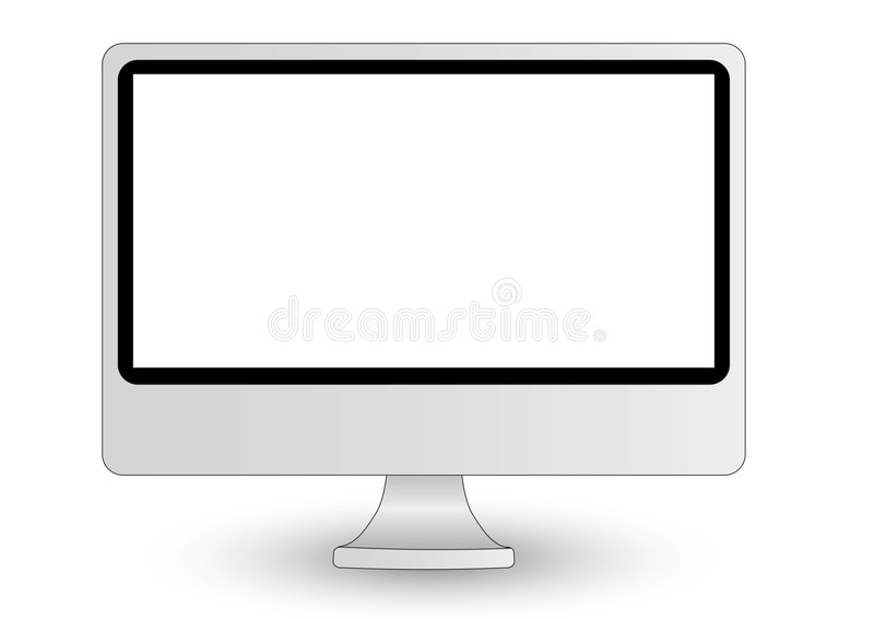 Indicador de computador de Imac ilustração do vetor