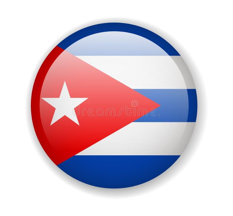 Indicador de Cuba Icono brillante redondo en un fondo blanco libre illustration