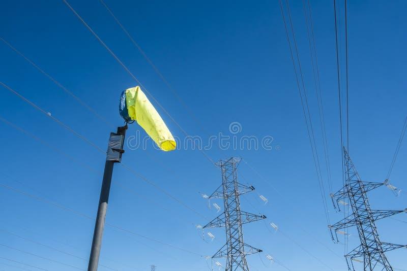 Indicador de direção do vento imagem de stock