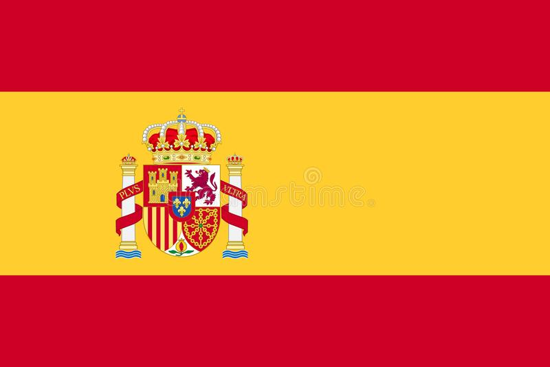 Indicador de España ilustración del vector