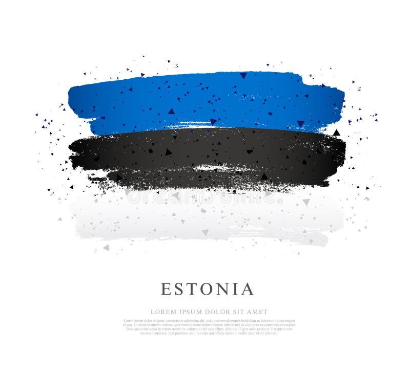 Indicador de Estonia Fondo del grunge de la independencia Day Movimientos del cepillo libre illustration