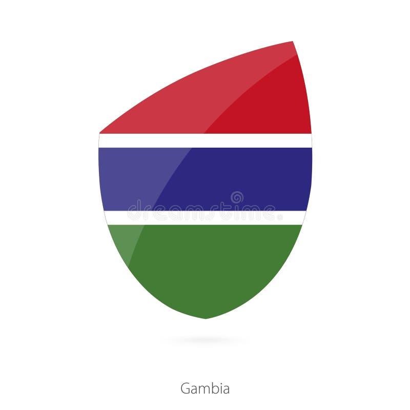 Indicador de Gambia Bandera gambiana del rugbi libre illustration