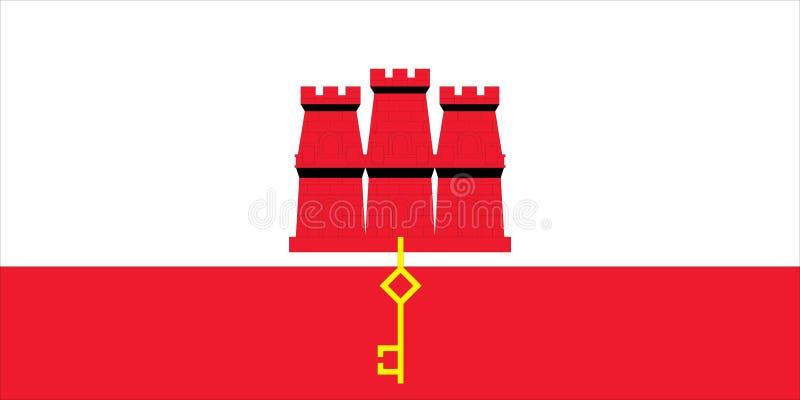 Indicador de Gibraltar ilustración del vector
