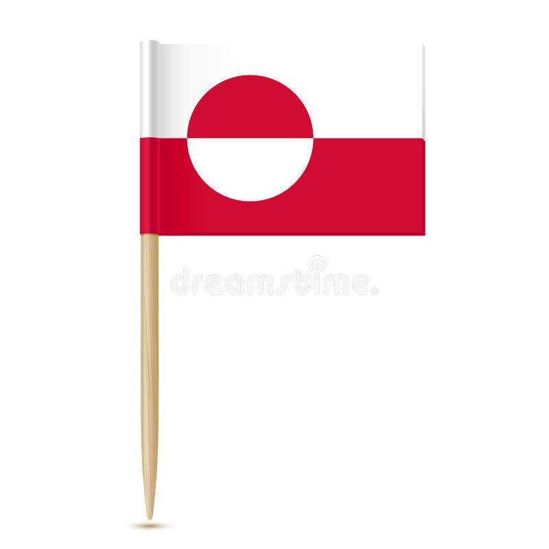 Indicador de Groenlandia Palillo de la bandera libre illustration