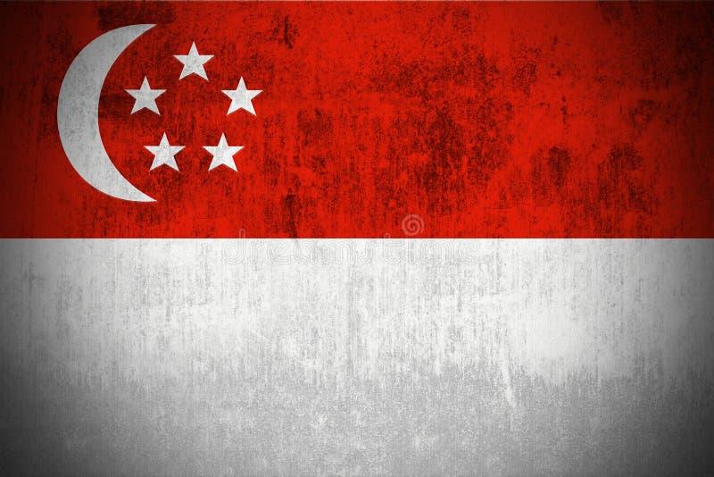 Indicador de Grunge de Singapur stock de ilustración