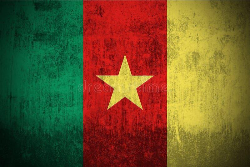 Indicador de Grunge del Camerún ilustración del vector