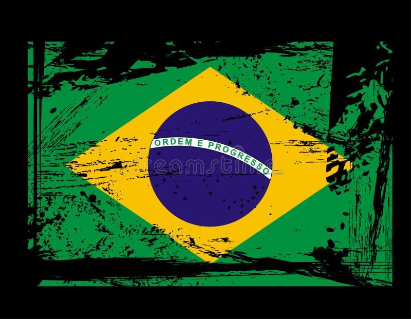 Indicador de Grunge el Brasil ilustración del vector