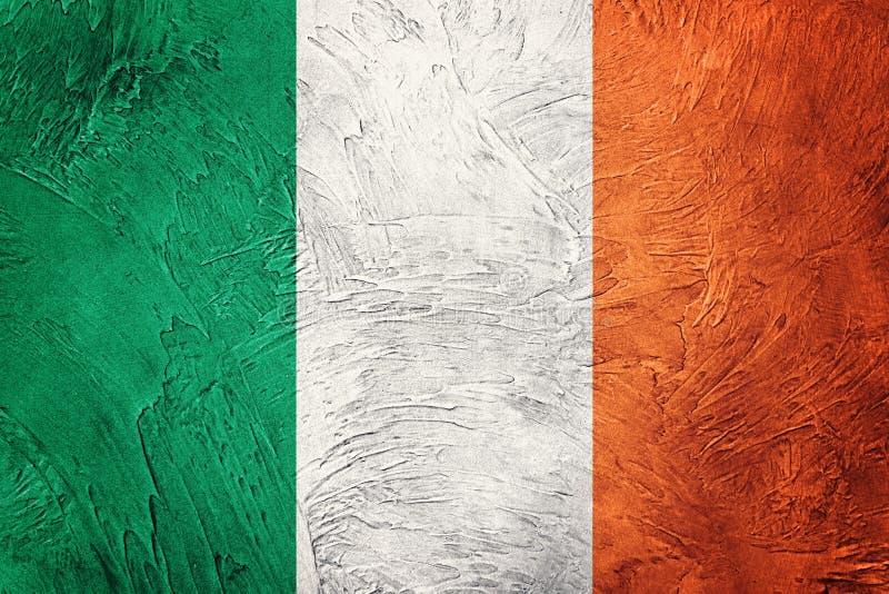 Indicador de Grunge Irlanda Bandera irlandesa con textura del grunge imagen de archivo libre de regalías