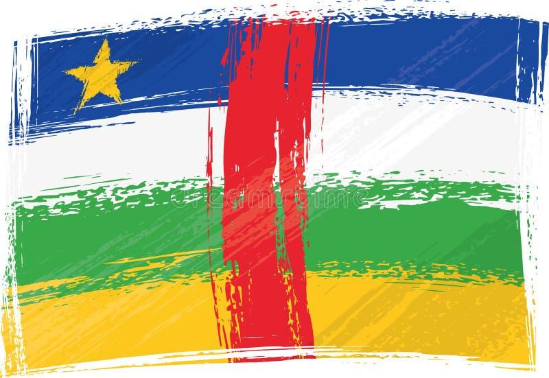 Indicador de Grunge República Centroafricana ilustración del vector