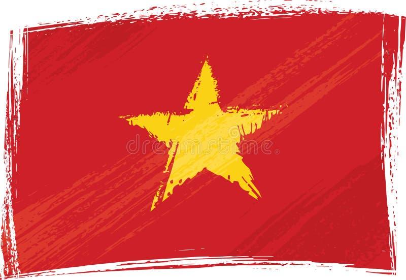 Indicador de Grunge Vietnam stock de ilustración