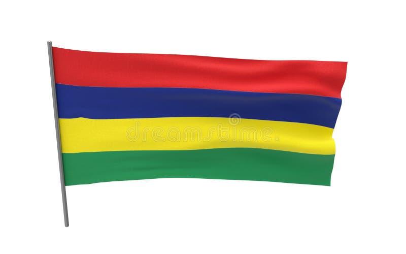 indicador de Isla Mauricio stock de ilustración