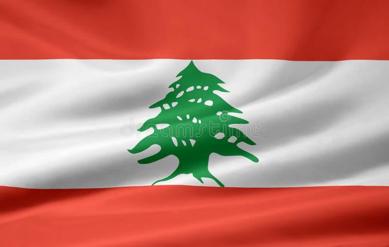 Indicador de Líbano ilustración del vector