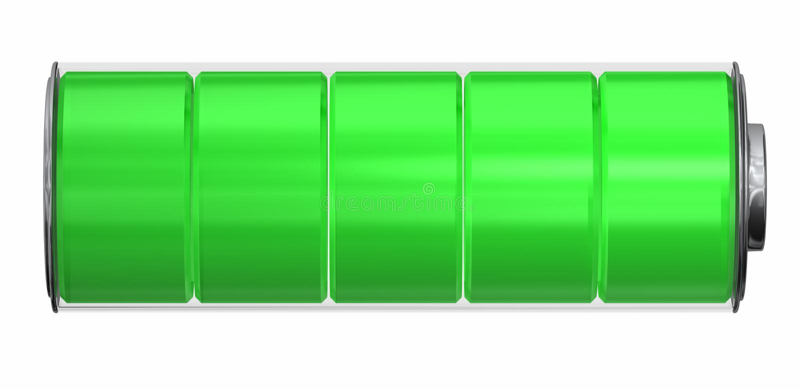 Indicador de la batería libre illustration