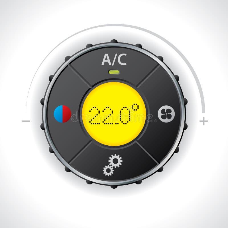 Indicador de la condición del aire con el amarillo llevado libre illustration
