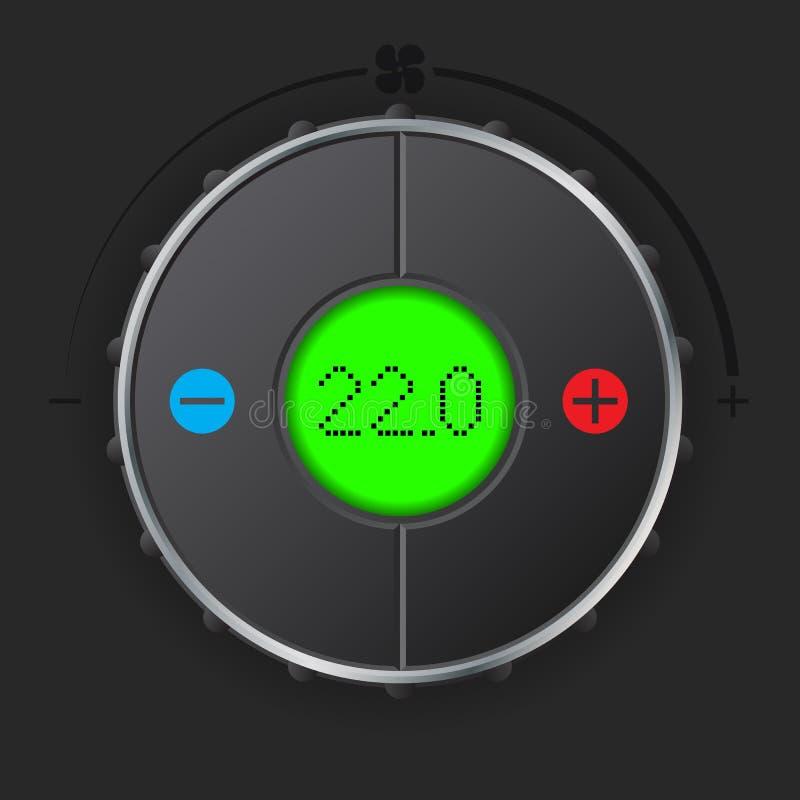 Indicador de la condición del aire con el lcd verde stock de ilustración