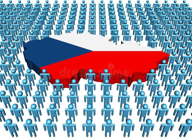 Indicador de la correspondencia de la República Checa con la gente stock de ilustración