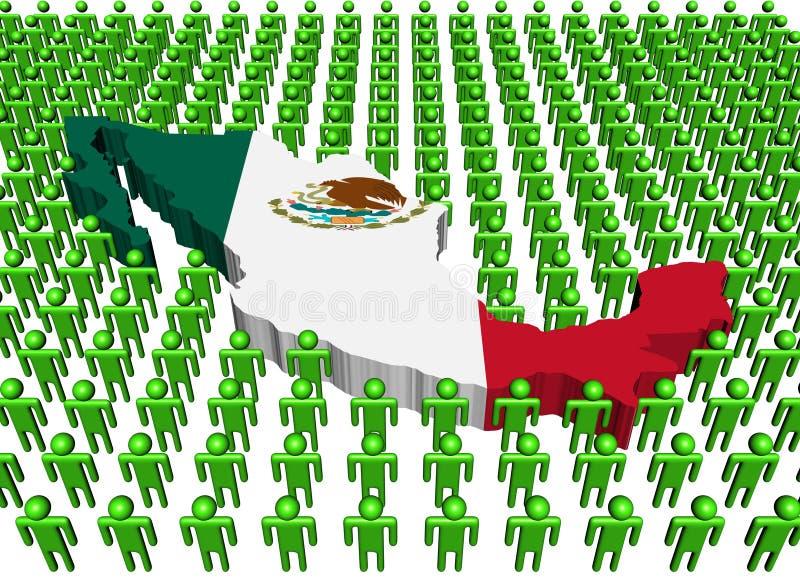 Indicador de la correspondencia de México con mucha gente libre illustration