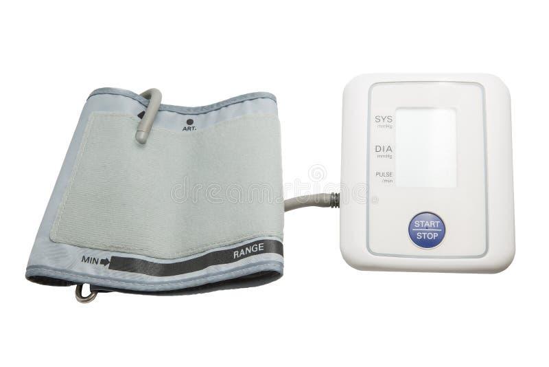 Indicador de la presión arterial de Digitaces imagen de archivo libre de regalías