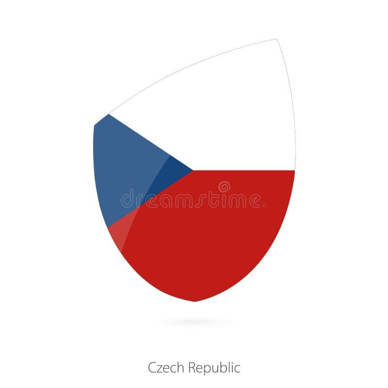 Indicador de la República Checa Bandera del rugbi de la República Checa stock de ilustración