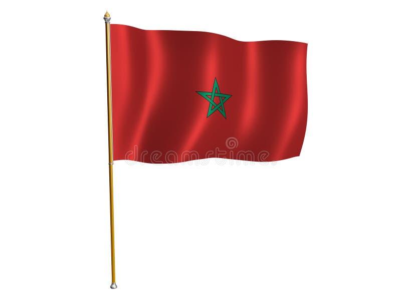 Indicador de la seda de Marruecos ilustración del vector