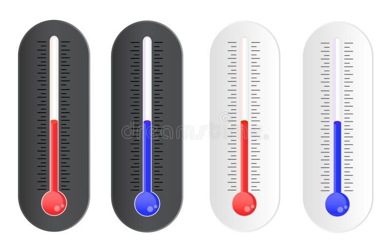 Indicador de la temperatura stock de ilustración