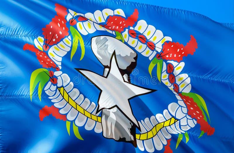Indicador de las Mariana norteñas E El símbolo nacional de los E.E.U.U. del estado septentrional de Mariana Islands, 3D imagen de archivo