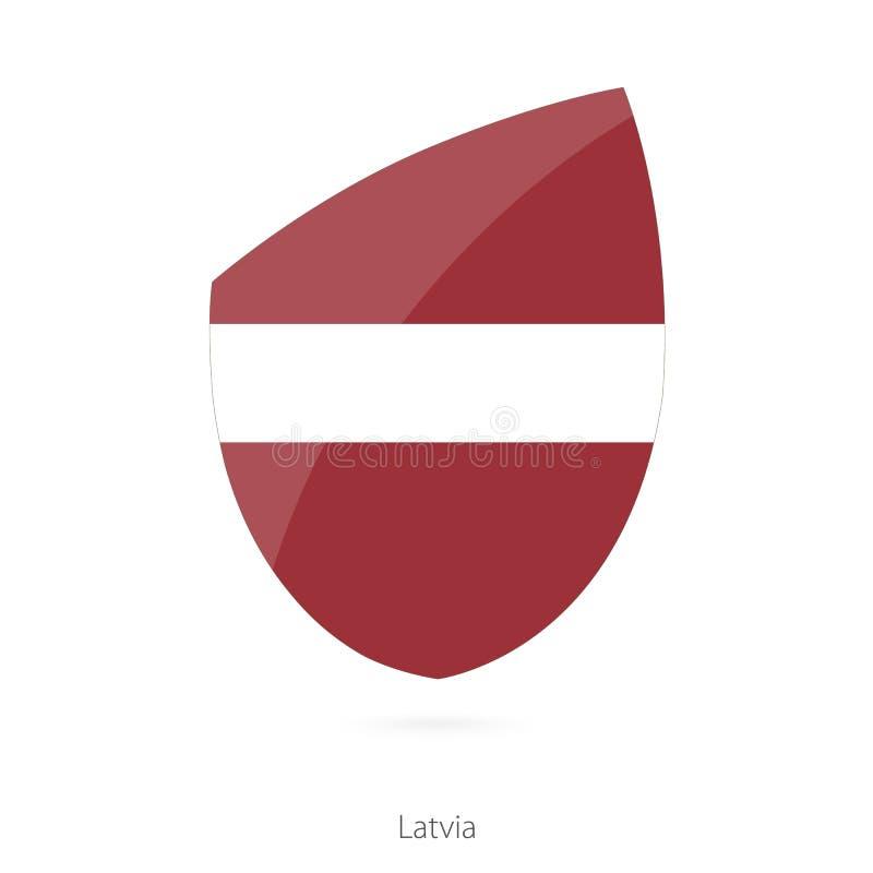 Indicador de Latvia Bandera letona del rugbi stock de ilustración