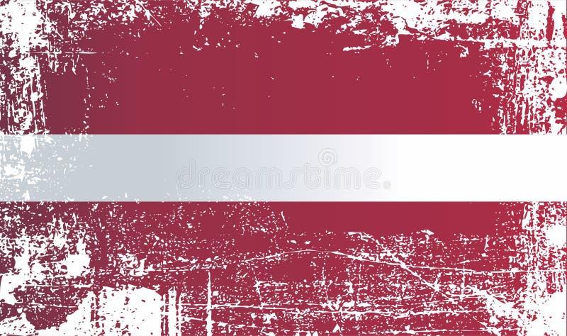 Indicador de Latvia Puntos sucios arrugados libre illustration