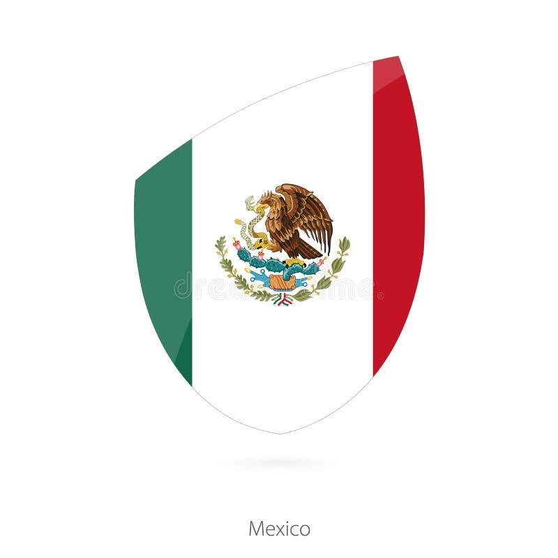 Indicador de México Bandera mexicana del rugbi stock de ilustración