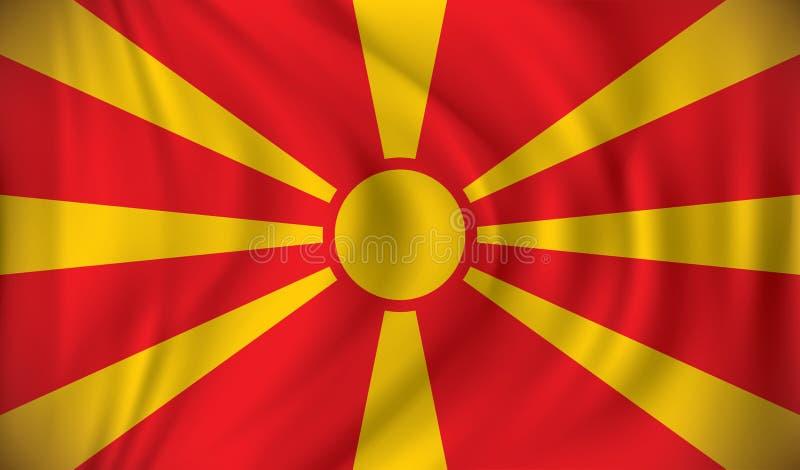 Indicador de Macedonia ilustración del vector