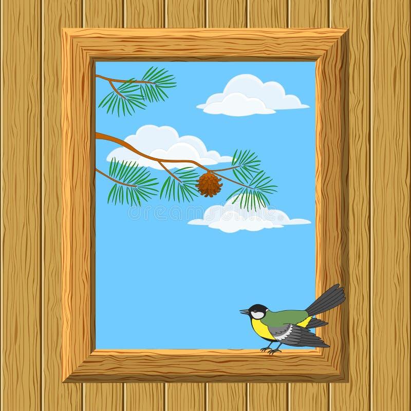 Download Indicador De Madeira Com Titmouse Ilustração do Vetor - Ilustração de material, nave: 26506239