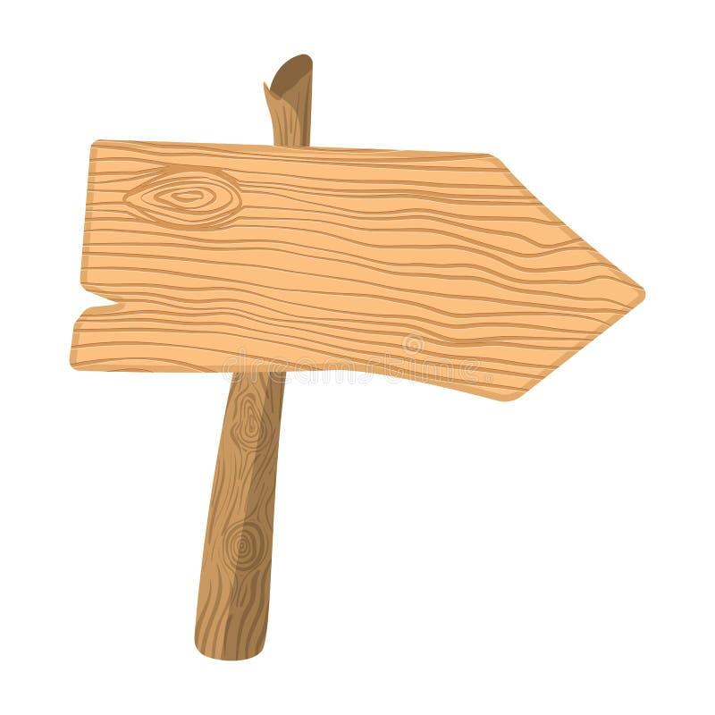 Indicador de madera de la historieta stock de ilustración
