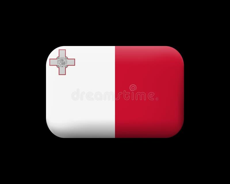 Indicador de Malta Icono y botón enmarañados del vector Dimensión de una variable rectangular stock de ilustración