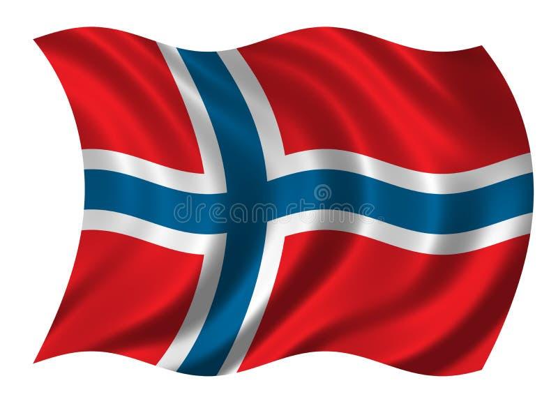 Indicador de Noruega ilustración del vector