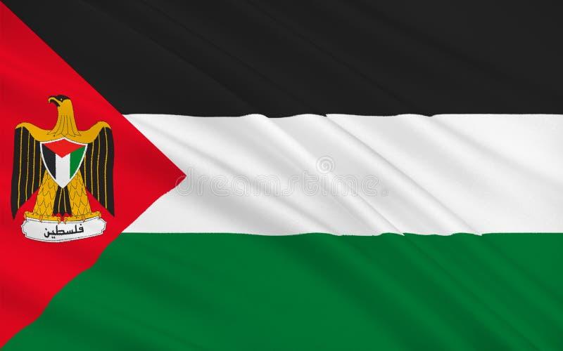 Indicador de Palestina ilustración del vector