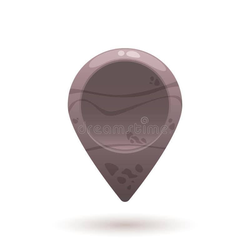 Indicador de piedra vacío del mapa, marcador libre illustration
