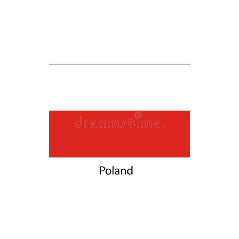 Indicador de Polonia Colores y proporción oficiales correctamente Bandera nacional de Polonia Ejemplo del vector de la bandera de ilustración del vector