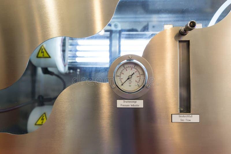 Indicador de presión y medición del flujo del gas foto de archivo libre de regalías