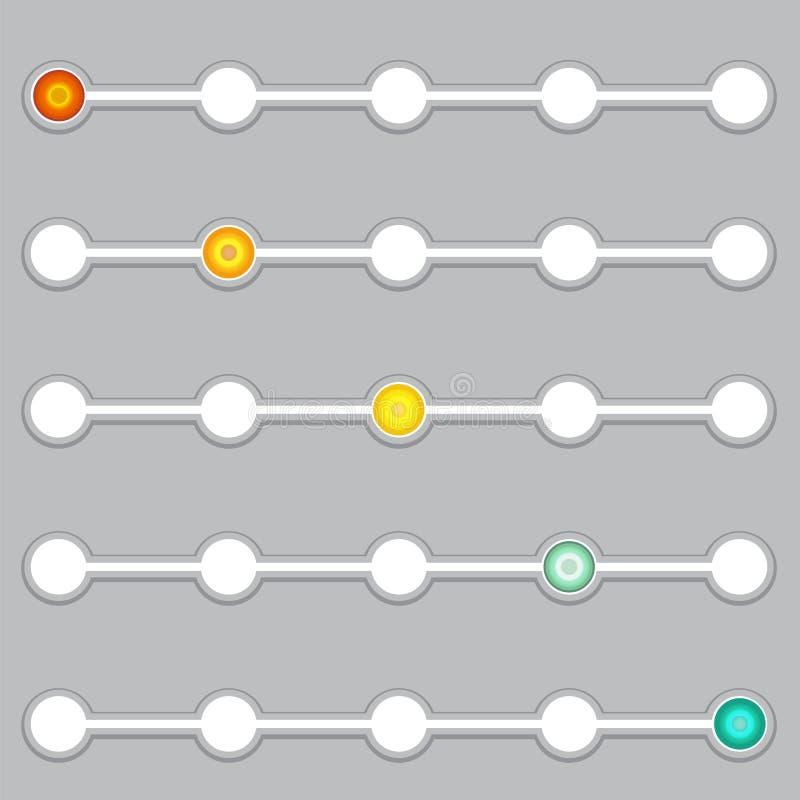 Indicador de progreso Sistema de la barra de progreso gradual libre illustration