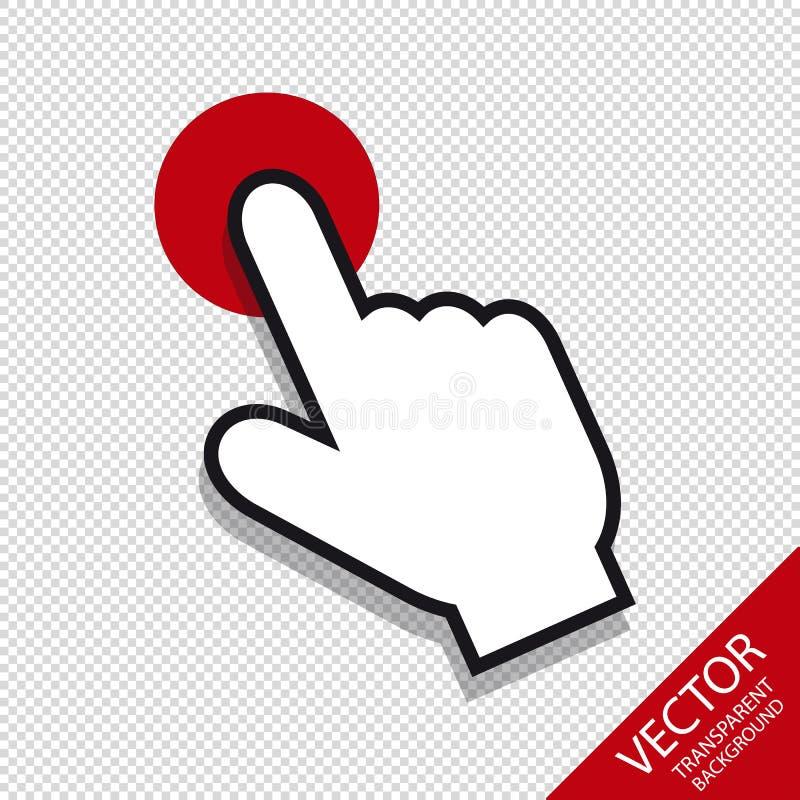 Indicador de ratón - icono Editable del vector - aislado en Backround transparente stock de ilustración