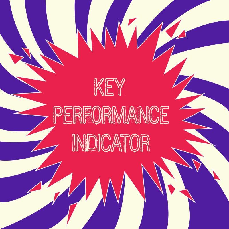 Indicador de rendimiento clave del texto de la escritura de la palabra Concepto del negocio para cómo el eficaz puede alcanzar su ilustración del vector