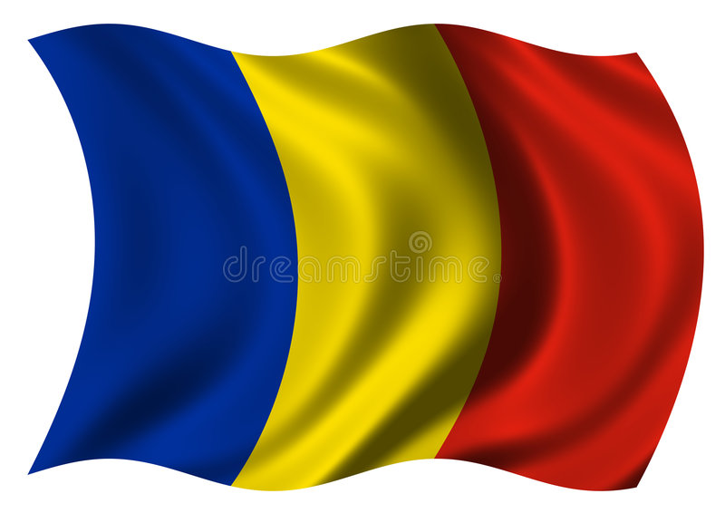 Indicador de Rumania ilustración del vector