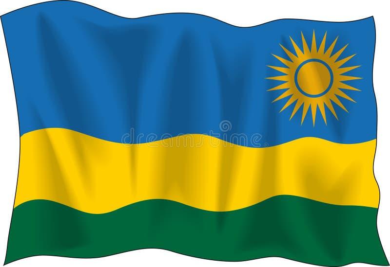 Indicador de Rwanda ilustración del vector
