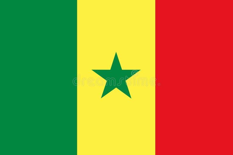Indicador de Senegal ilustración del vector