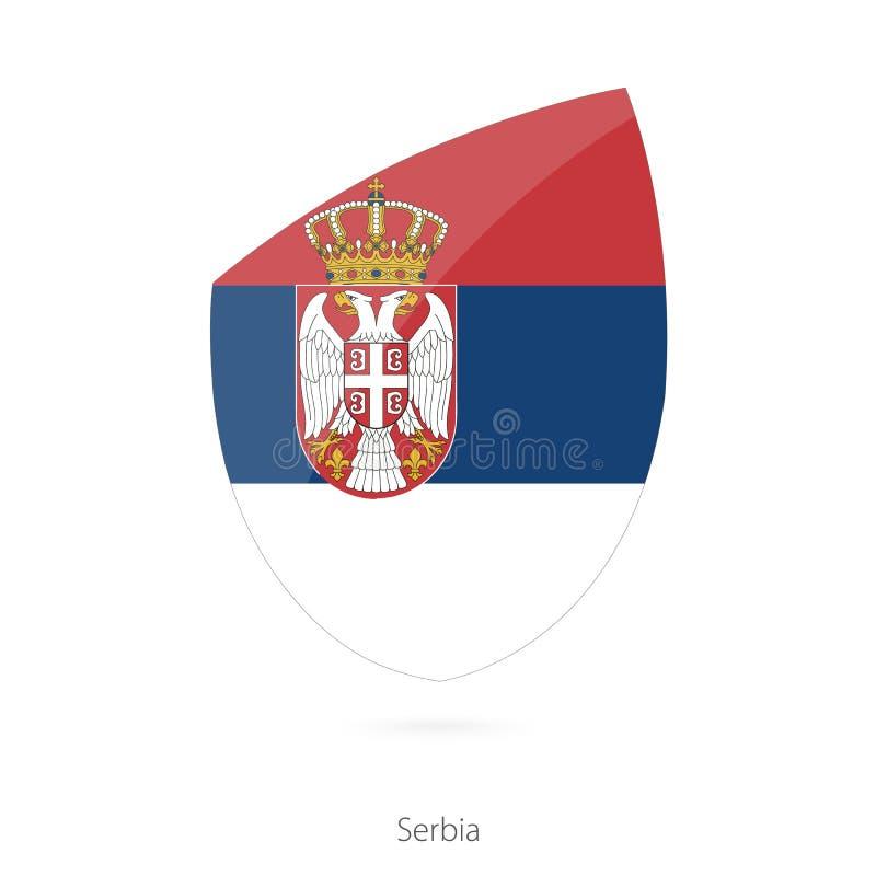 Indicador de Serbia Bandera servia del rugbi stock de ilustración